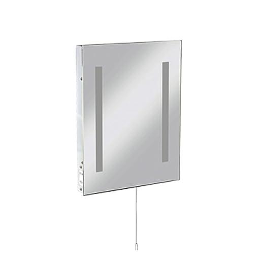 Bathroom Wall Mounted Mirror Light C/W Shaver Socket 500 X 390mm