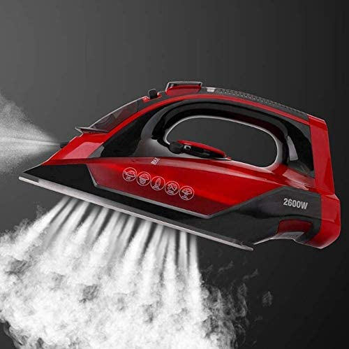 Steam Iron 2600W Cordless Wireless Charging 5-Speed Adjustment Ceramic Floor Large Capacity Water Tank Portable Clothes Ironing Steamer ZHW345