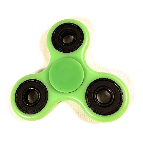 [Glow in The Dark Fidget Spinner by Weemboo with Ultra Durable High Speed 3-5 Min Tri-Spinner Toy Increase Focus Of Children And Adult – Perfect for Gift / Work / Class / Home] (Green Troll Costumes Contact Lenses)