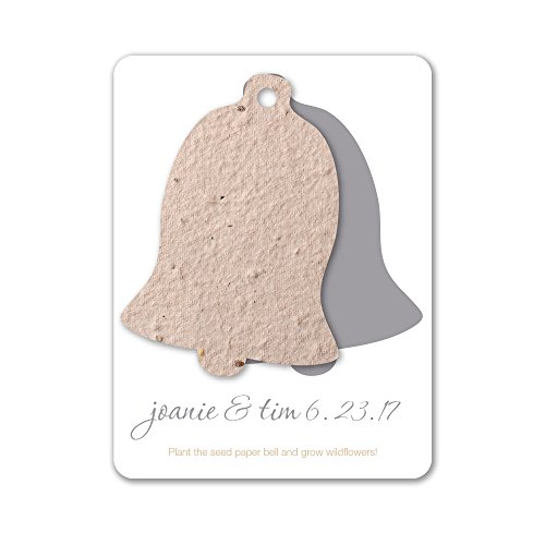 Bloomin Plantable Wedding Bell Wedding Favor with Seed Paper - Natural (25 Card Set) ()
