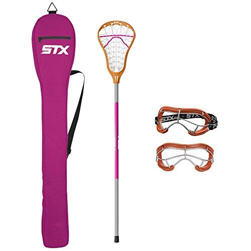 STX Lacrosse Exult 200 Starter Pack, Clementine/Punch