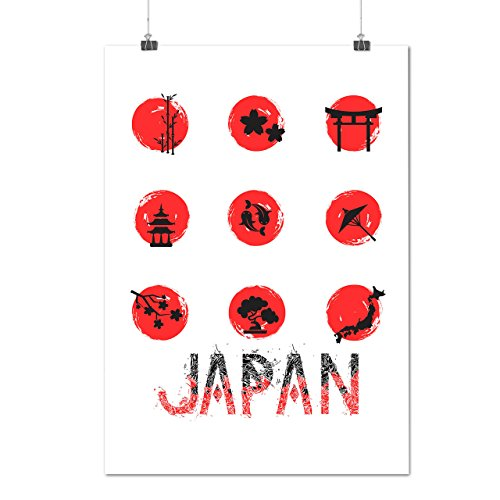[Japan Style Symbol Eastern Art Matte/Glossy Poster A3 (12x17 inches) | Wellcoda] (Nationalities Around The World Costumes)