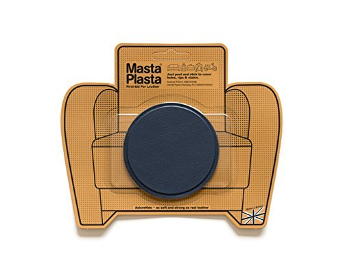 MASTAPLASTA Leather Repair Patch Large Plain Circle 3-inch by 3-inch, Navy