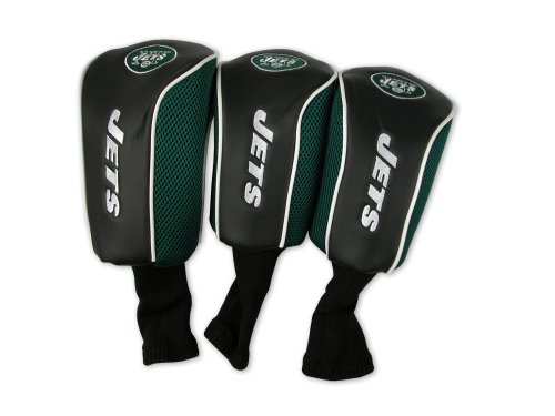 New York Jets 3 Pack Mesh Longneck Headcover (Jets Headcover)