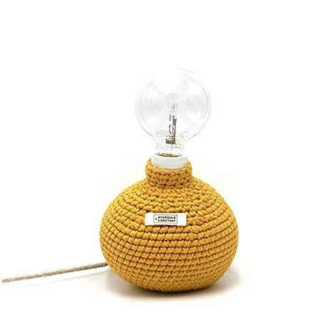 hook-lampe de mesa textil tricoté H18 cm Mostaza atargule + ...