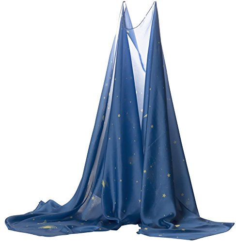 Sarah's Silks Giant Playsilk (Starry Night) 9 feet long by 3 feet wide - fort building - play tent