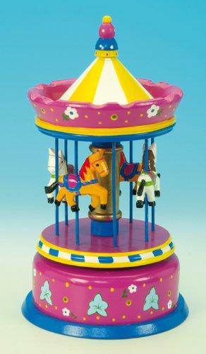 Spieluhrenwelt 44038 Großes Karussell, lila gelb