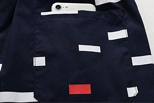 punk style Mens Casual Shorts Cotton Breathable Five Pants Fashion Casual Print Summer Khaki