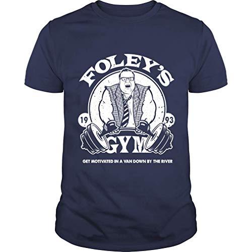 Retano Farley Foley T Shirt Funny Farley Foley SNL Slim Fit T-Shirt (Unisex T-Shirt;Navy;XXL)
