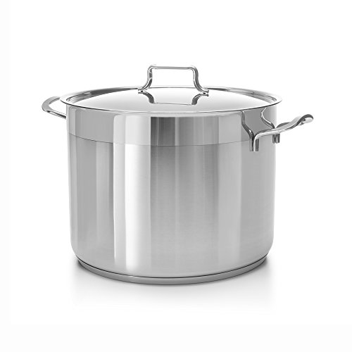 Ybmhome Hascevher Classic Stainless Steel Chef's Induction Compatible Stockpot Covered Multi-Purpose Cookware with Encapsulated Base H16 (16 Quart) by Ybmhome (Image #1)'