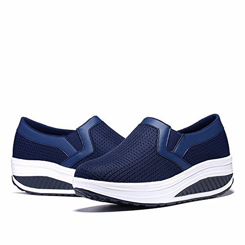Azul Mujer Zapatillas Oscuro1 KUAIKUHEI Casual ax87RYXaqw