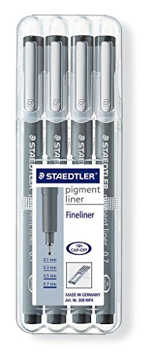 Staedtler 661A3PR1Drawing Board A3Promotion (Pigment Liner 308WP4) by STAEDTLER (Image #2)
