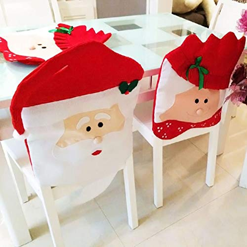 Decorative Decorative - Year Decor Chair Covers 2pcs Fashion Mr Mrs Santa Clause Red Hat Indoor Christma Decorations Kc1236 - Entryway Home Decor Yellow Decorative Year Skull Decorations Beachy ()