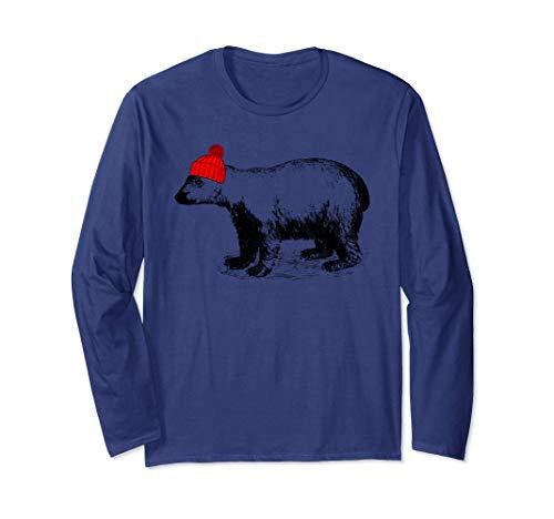 Polar Bear Beanie - Polar Bear Wearing a Beanie Stocking Hat T-Shirt