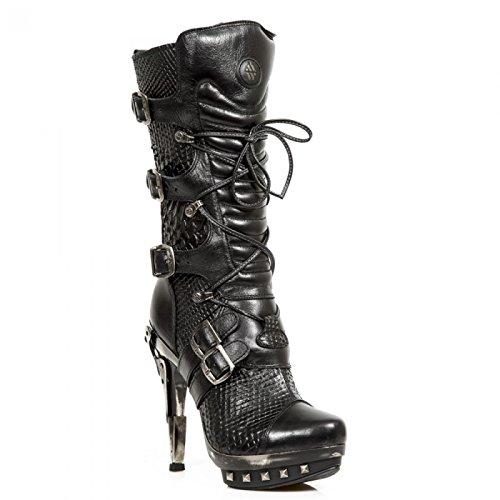 New Rock Handmade M Punk001 C17 Schwarz Damen Stiefel