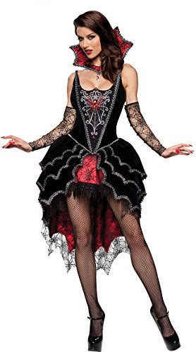 Deluxe Gothic Mistress Sexy Costumes (PINSE Adult Super Deluxe Webbed Mistress Vampire Costume)