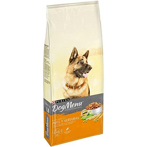 Purina Dog Menu Pienso para Perro Adulto Aves y Verduras 15 Kg