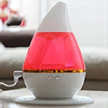 Vinus Water Drop Essential Oil Diffuser 250ML Mini USB Quiet Ultrasonic Humidifier with Color Changing LED Lights Auto Shut-Off for Home Office Car Baby Room (Pink)