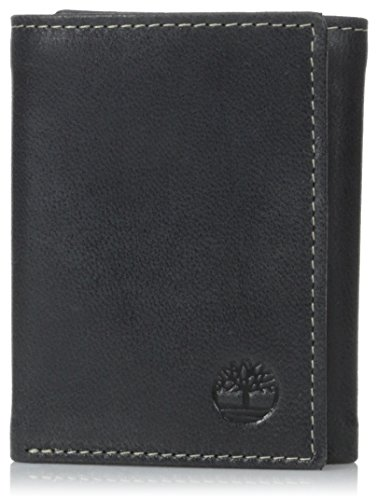 Timberland Mens Leather Trifold Wallet With ID Window ()
