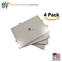Money Saver Four Pack (400 Labels) (USPS Approved) Double Postage Meter Tapes 5 1/2 x 3 1/2 w Perf Compares to Pitney Bowes 612-0, 612-7, 612-9 & 620-9 Postage Meter Tape 05204 Two labels Per Sheet