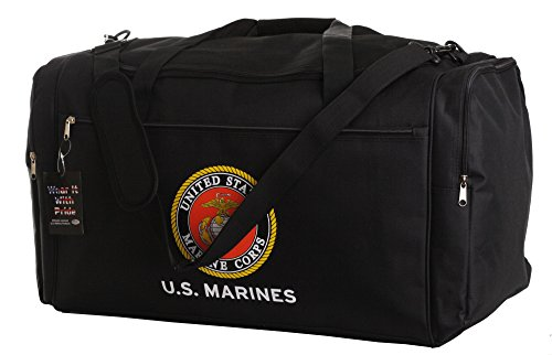 us-marines-official-licensed-black-duffle-gym-luggage-bag