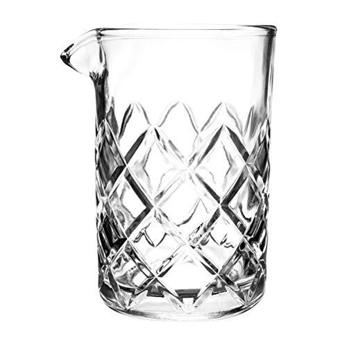 (Tebery 15oz Cocktail Mixing Glass Clear - Diamond Cut Pattern)