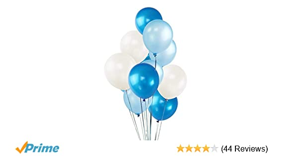 100 Pack 12 White Dark Blue Light Balloons Ocean Theme Party Decorations Helium Thick Latex Balloon For Valentines Carnival Birthday