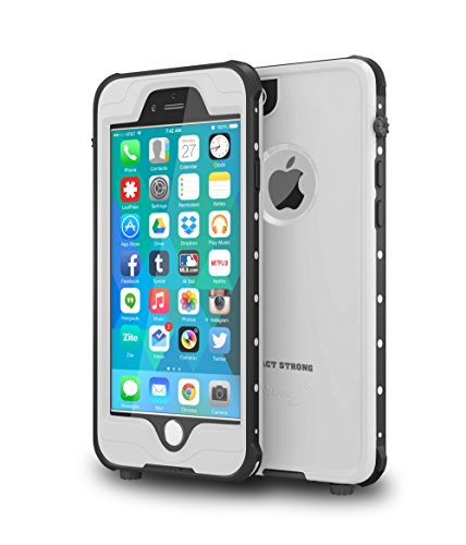 "Price comparison product image ImpactStrong iPhone 6 Waterproof Case [FingerPrint ID Compatible] Slim Full Body Protection for Apple iPhone 6 / 6s (4.7"") - White"
