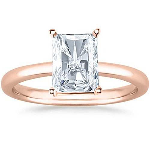 t Cut Solitaire Diamond Engagement Ring (1.11 Carat F-G Color VS1 Clarity) (Radiant Cut Diamond Solitaire Ring)