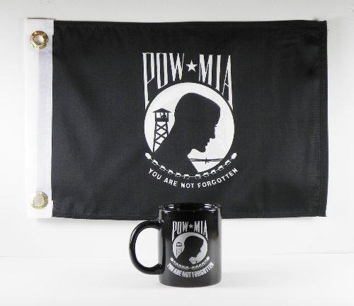 当店在庫してます! Pow Pow MIAコーヒーマグ/カップwith 12 x B01M02BSNR 18 Pow Mia Mia Double Sidedポリエステルフラグ – Gift Boxed byラフィン B01M02BSNR, カミイソグン:411d03bb --- pathlab.officeporto.com