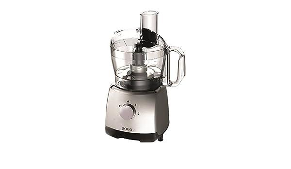 Sogo SS-5140 Mini robot de cocina, 400 W, 1.2 litros, Plástico, 2 Velocidades, Plata: Amazon.es: Hogar