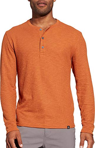 - Alpine Design Men's Henley Long Sleeve Shirt (L, Autumnal Orange Heather)