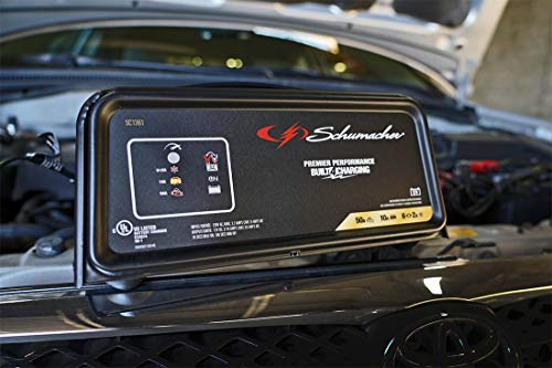 Schumacher SC1361 12V Fully Automatic Battery Charger and 10/50A Engine Starter by Schumacher (Image #3)