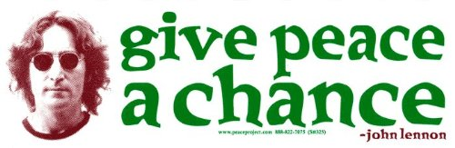Give Peace a Chance - John Lennon - Bumper Sticker/Decal (9.875