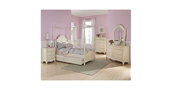 . Amazon com  Homelegance Cinderella 5 Piece Canopy Poster Bedroom Set