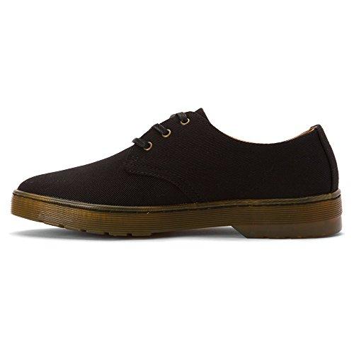 Black derby Dr Canvas de Negro Zapatos Martens cordones Twill Gizelle Mujer negro 6n84gx8