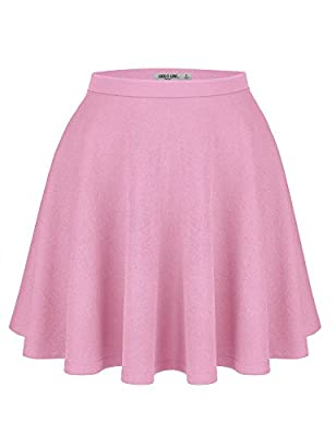 Womens Verstaile Stretchy Flared Casual Skater Skirt - Made in USA