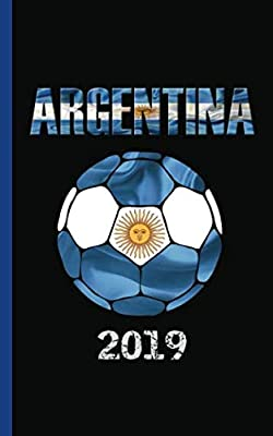 "Argentina Flag Soccer Ball Journal - Notebook: Patriotic Argentine National DIY Writing Note Book - 100 Lined Pages + 8 Blank Sheets, Small Travel Size 5x8"" (Soccer Gear Gifts Vol 7)"