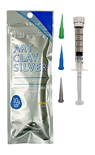 (Art Clay Silver syringe type 10g (with three nozzle) A-281 (japan import))