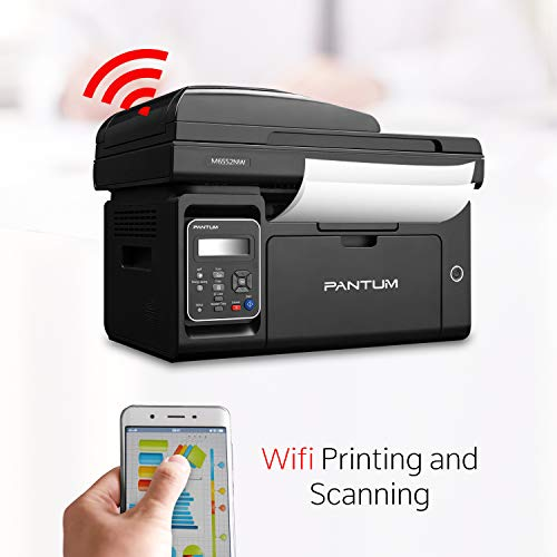 Pantum M6552NW Monochrome Laser Multifunction Printer with Wireless Networking Mobile Printing Large Paper Capacity by Pantum (Image #4)