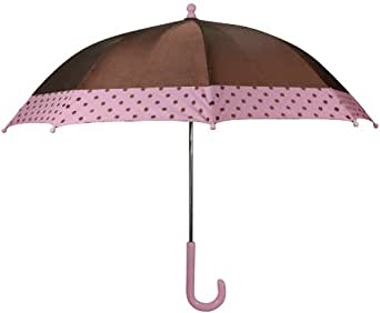 Western Chief Little Girls'  Frenchy French Umbrella, Chocolate, One Size