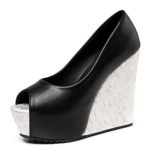 GetmorebeautyUpdate - Zapatos de tacón  mujer Black Mix White