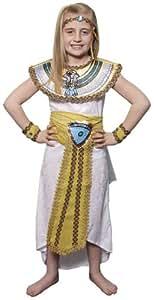 EGYPTIAN GIRL CLEOPATRA FANCY DRESS COSTUME, MEDIUM AGE 6-8 (disfraz)