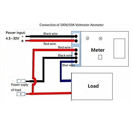 Saanvi New Mini Digital Voltmeter Ammeter Dc 100V 10A Panel ... on
