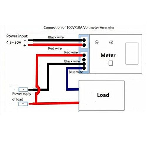saanvi new mini digital voltmeter ammeter dc 100v 10a panel amp volt current  meter tester 0 28