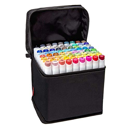 Bianyo Classic Series Dual Tip Art Markers with Travel Case Set of 72, Alcohol-based by Bianyo (Image #8)