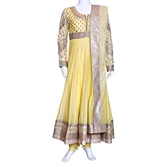 Kalaniketan Yellow Casual Anarkali Set For Women