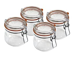 Le Parfait Super 580ml (19.6 Fl Oz) Canning Jar 4-Pack