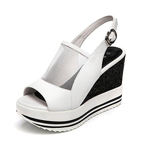 73690c9c Nuevas sandalias de plataforma con suela gruesa de verano sandalias de moda  de cuero de tacón alto ...