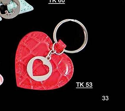 5 piezas inoka Milano Llavero Corazón rojo con moneda carro ...